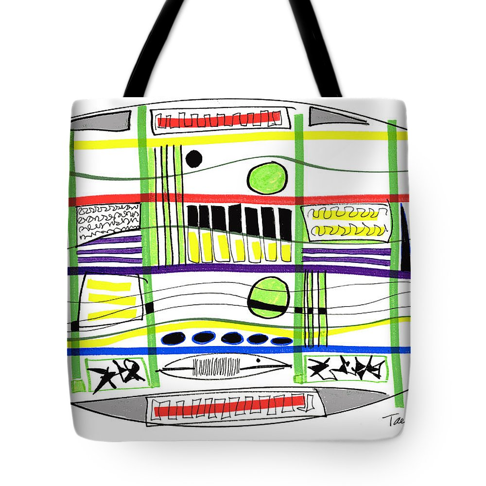 Modern Drawing Tote Bag featuring the drawing Modern Drawing Fifteen by Lynne Taetzsch