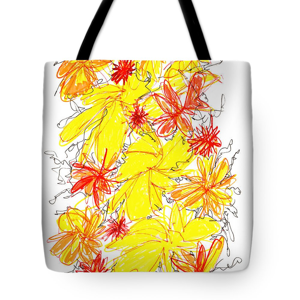 Modern Art Tote Bag featuring the drawing Modern Drawing Fifty-five by Lynne Taetzsch
