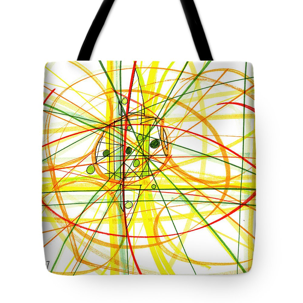 Modern Drawing Tote Bag featuring the drawing Modern Drawing Thirteen by Lynne Taetzsch