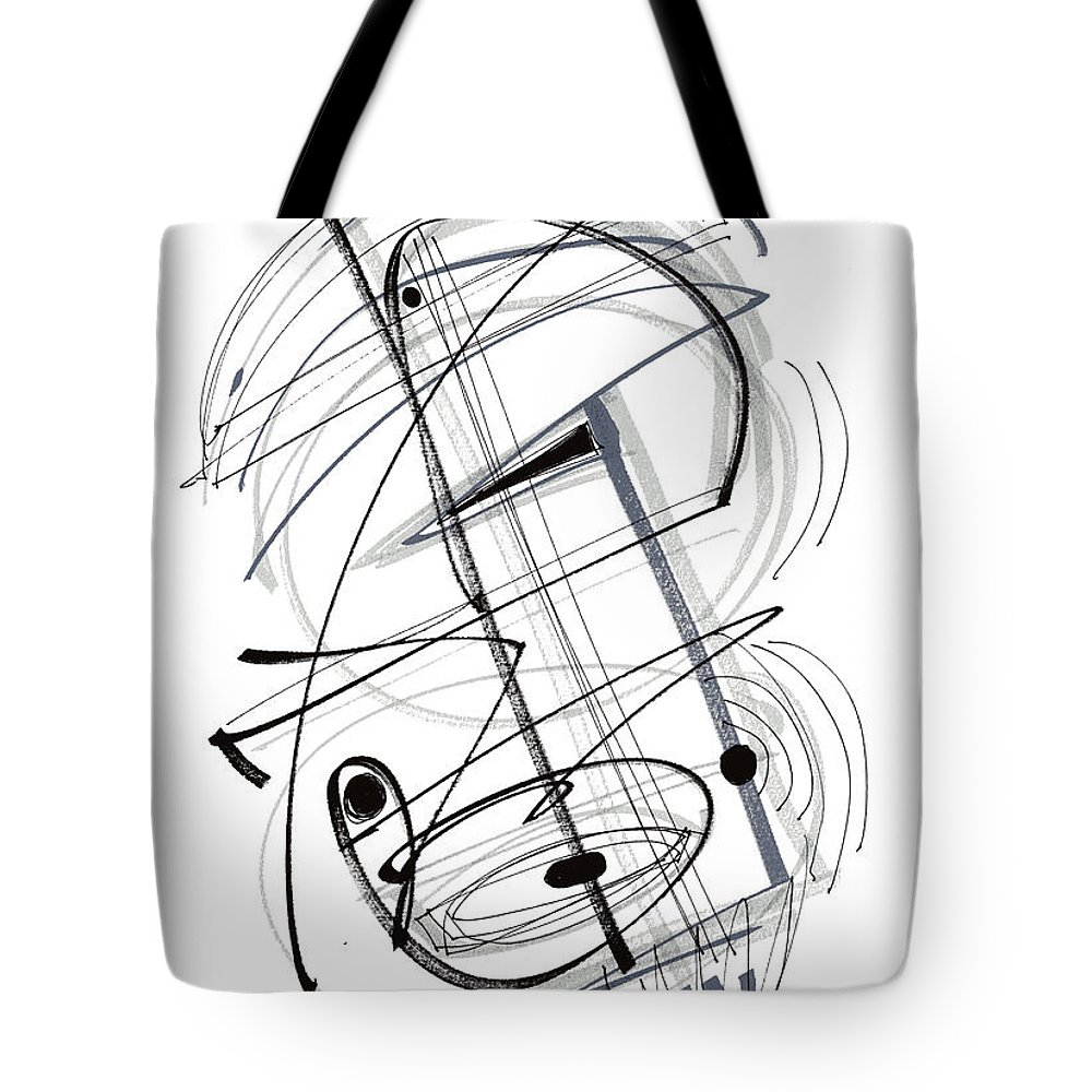 Modern Drawing Tote Bag featuring the drawing Modern Drawing Thirty-eight by Lynne Taetzsch