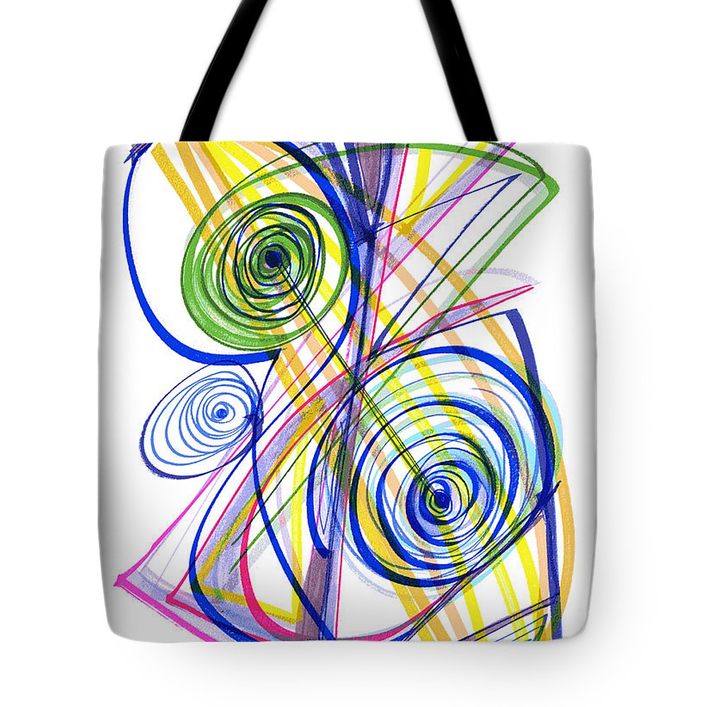Modern Drawing Tote Bag featuring the drawing Modern Drawing Thirty-seven by Lynne Taetzsch