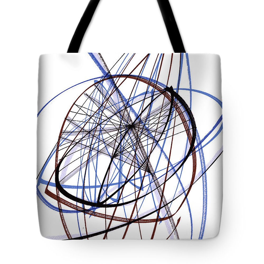 Modern Drawing Tote Bag featuring the drawing Modern Drawing Thirty-six by Lynne Taetzsch