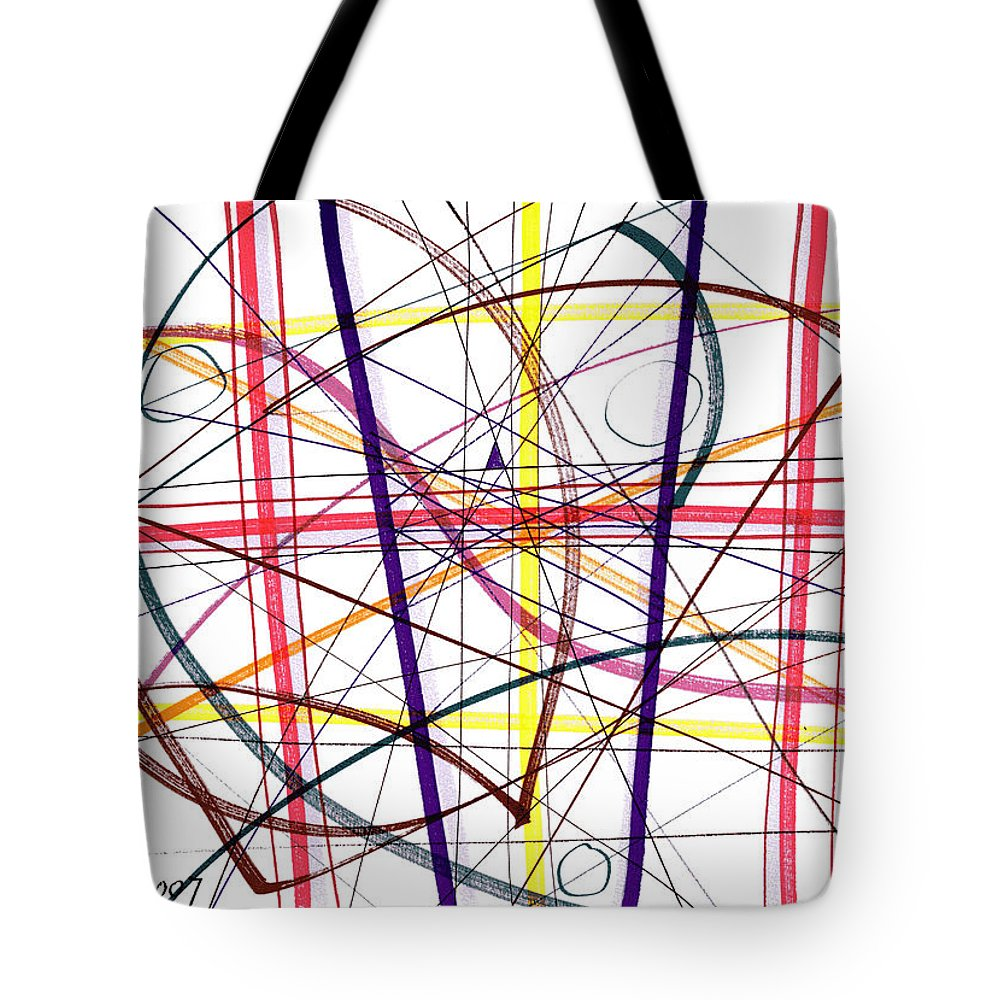 Modern Drawing Tote Bag featuring the drawing Modern Drawing Twelve by Lynne Taetzsch