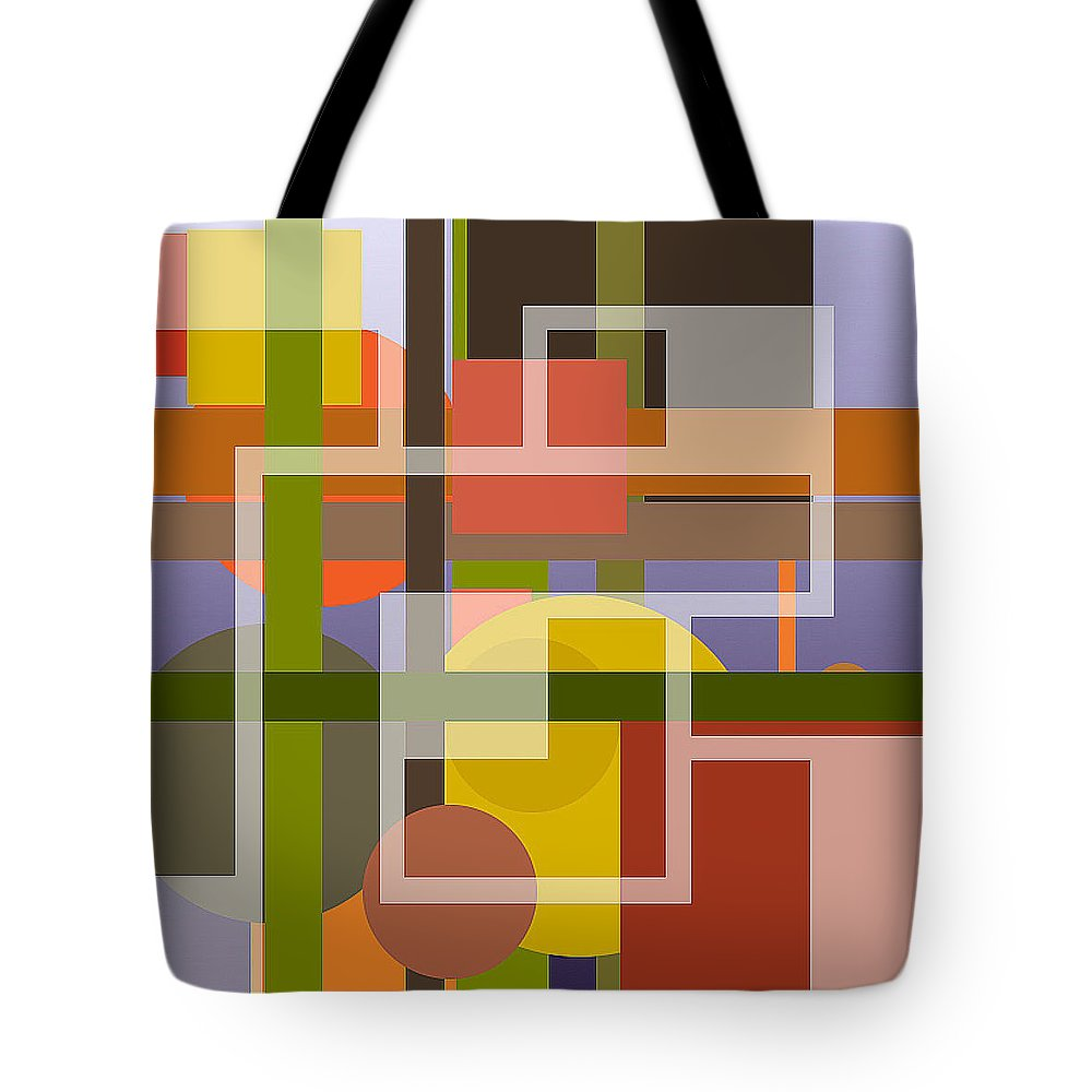 Digital Tote Bag featuring the digital art Modern Harmonious Abstract by Clive Littin