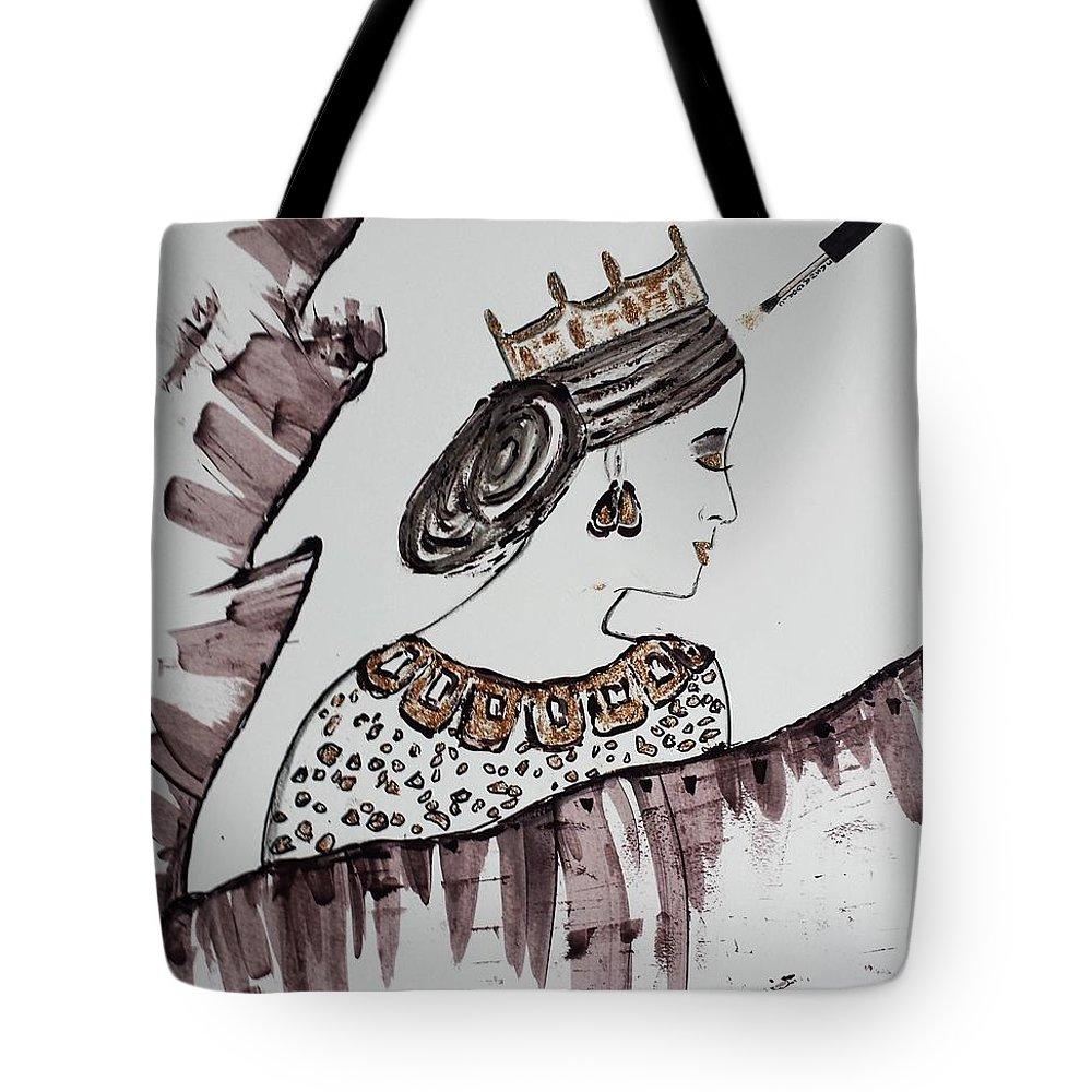 Queen Tote Bag featuring the painting Modern Queen by Jasna Gopic