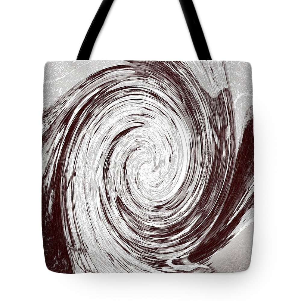 Abstract Tote Bag featuring the digital art Modern Sculpture by Lenore Senior