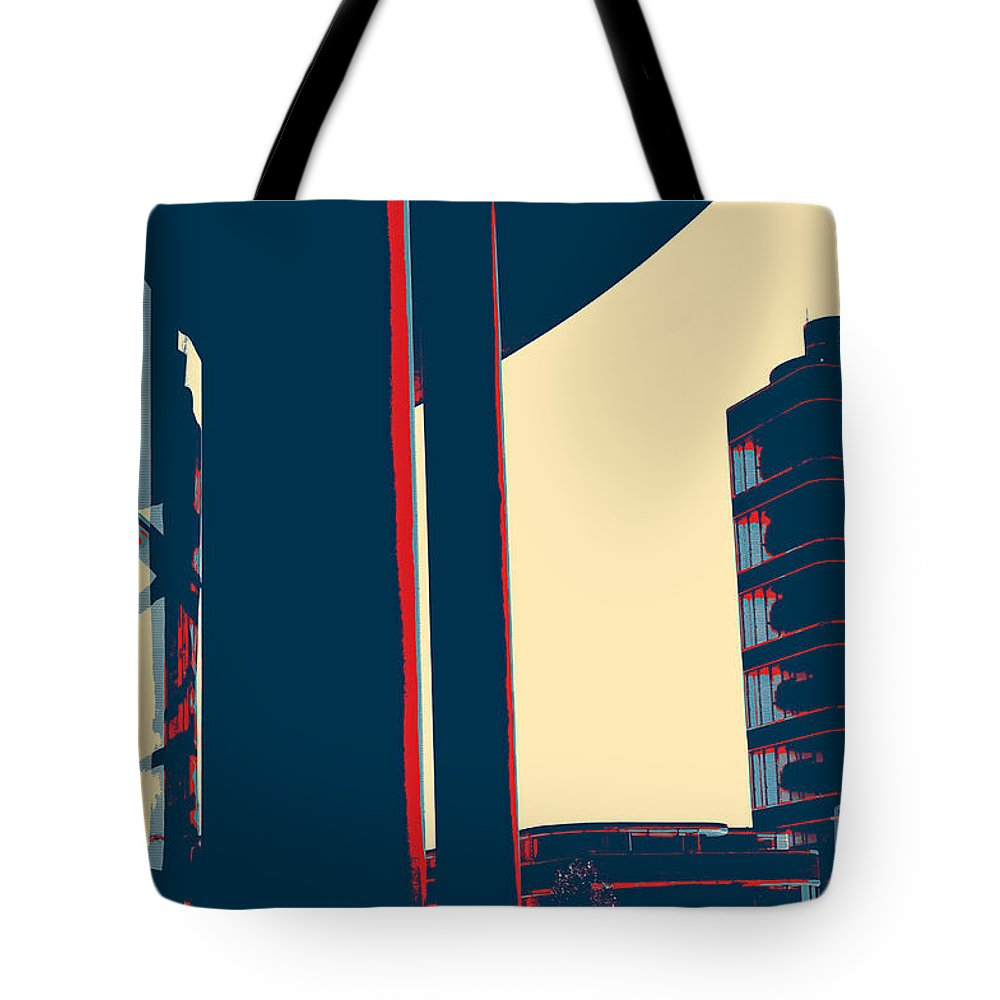 Modern Tower Tote Bag featuring the painting Modern Tower by Celestial Images