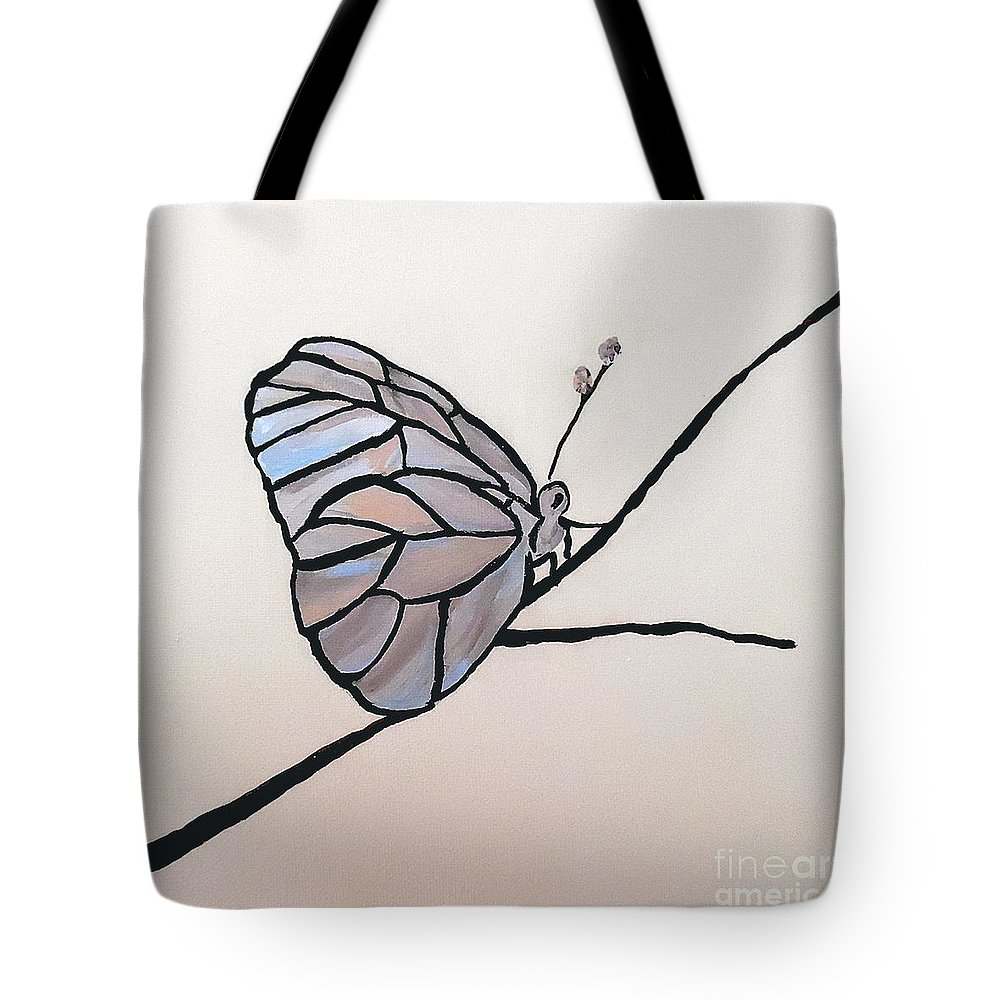 Butterfly Tote Bag featuring the painting Modest Elegance by Jilian Cramb - AMothersFineArt