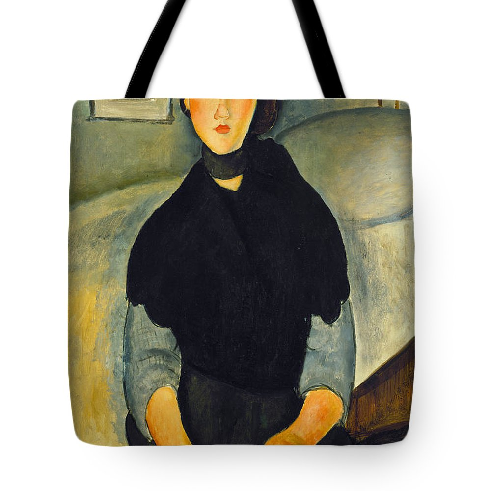 1918 Tote Bag featuring the photograph Modigliani: Woman, 1918 by Granger