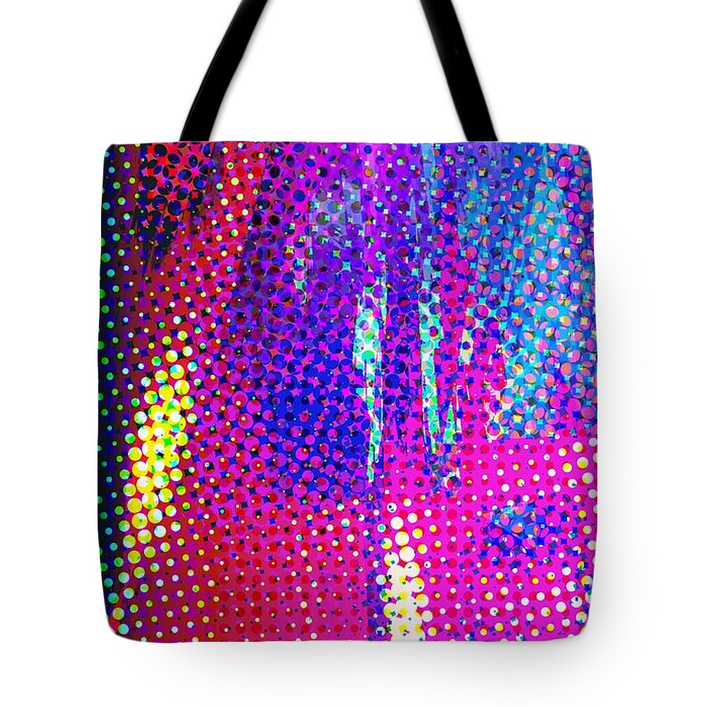 Abstract Tote Bag featuring the digital art Moire No. 2 by James Kramer