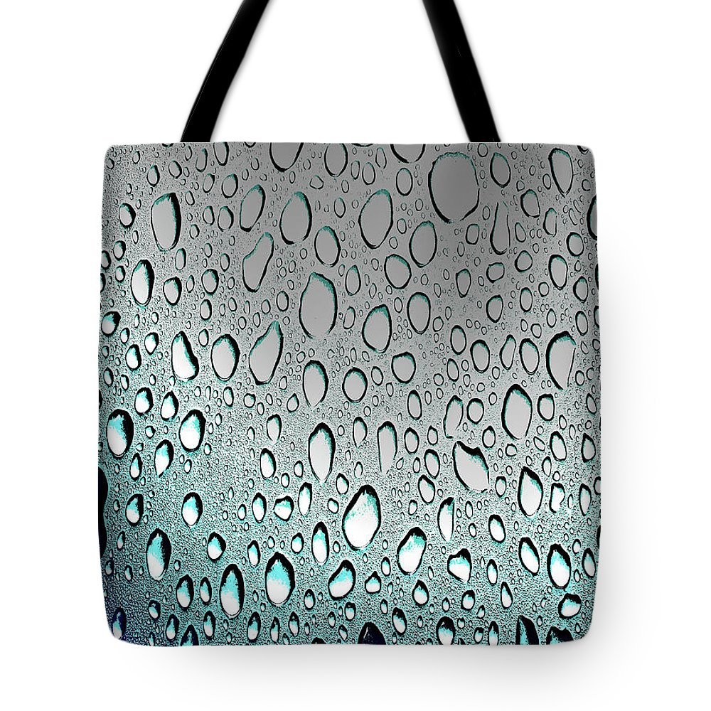 Can Tote Bag featuring the digital art Moisture, Poster Effect 1a by Zsuzsanna Szabo