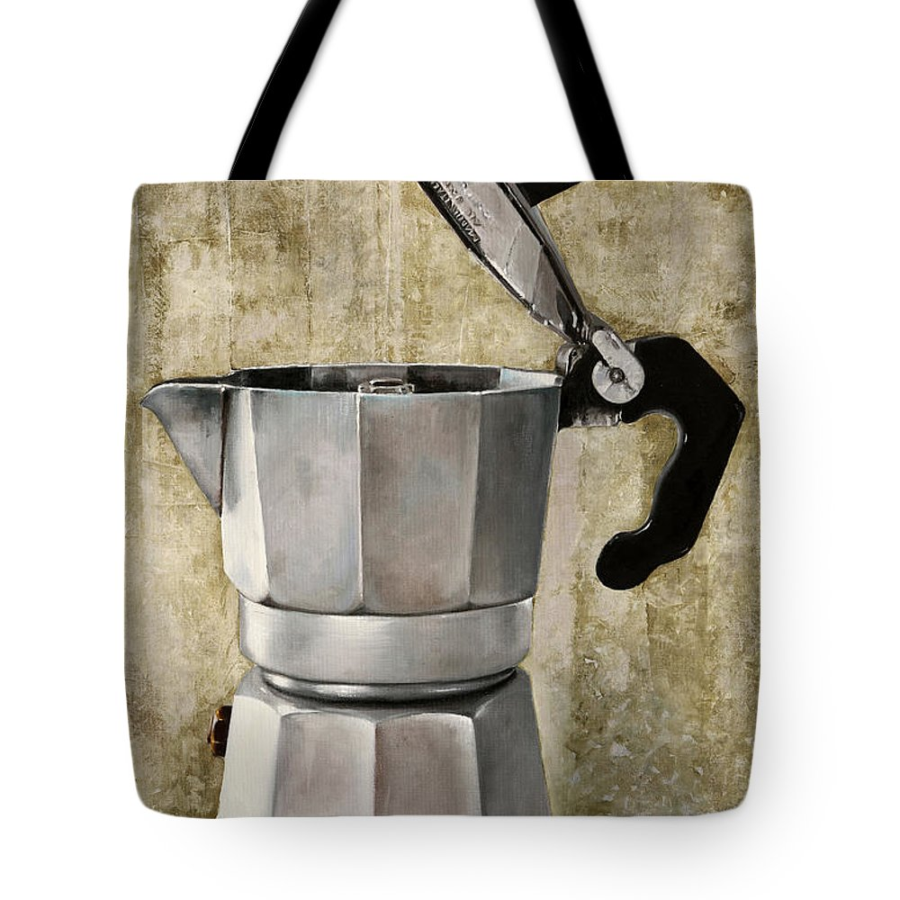 Cofeescape Tote Bag featuring the painting Moka by Guido Borelli