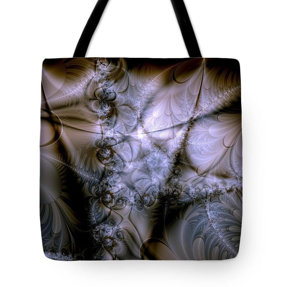 Chocolate Tote Bag featuring the digital art Molecular Cacao by Casey Kotas