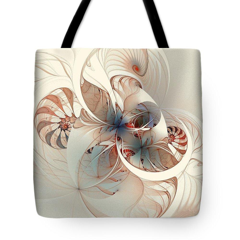 Tote Bag featuring the digital art Mollusca by Amanda Moore