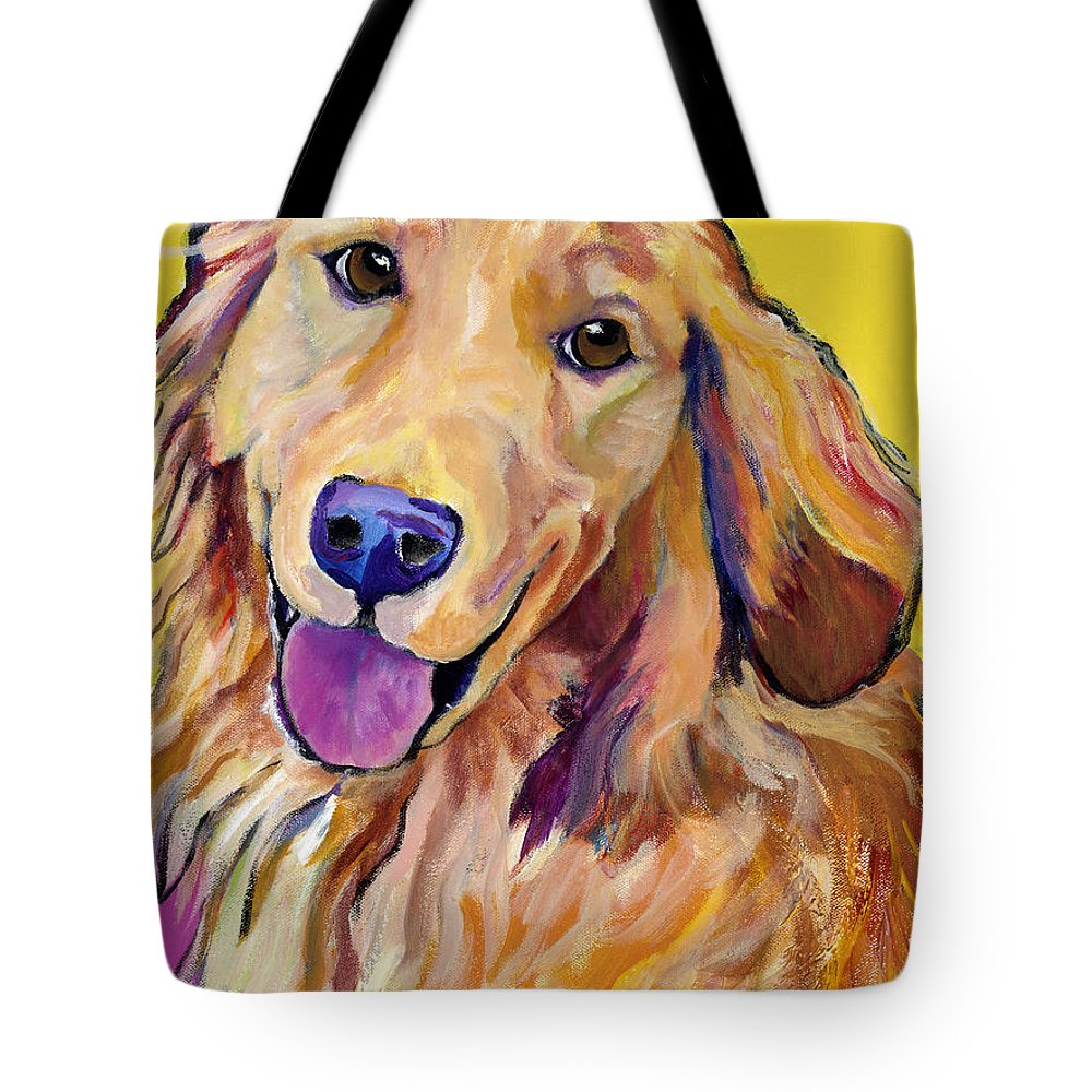 Acrylic Paintings Tote Bag featuring the painting Molly by Pat Saunders-White