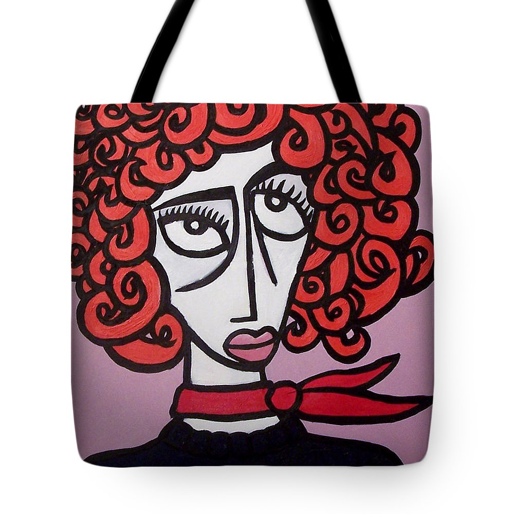 Portaits Tote Bag featuring the painting Molly by Thomas Valentine