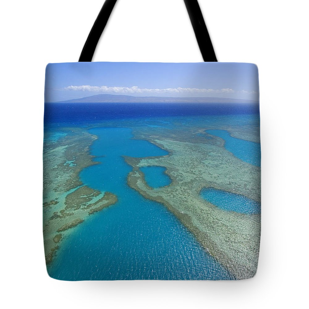 Above Tote Bag featuring the photograph Molokai, Aerial by Ron Dahlquist - Printscapes