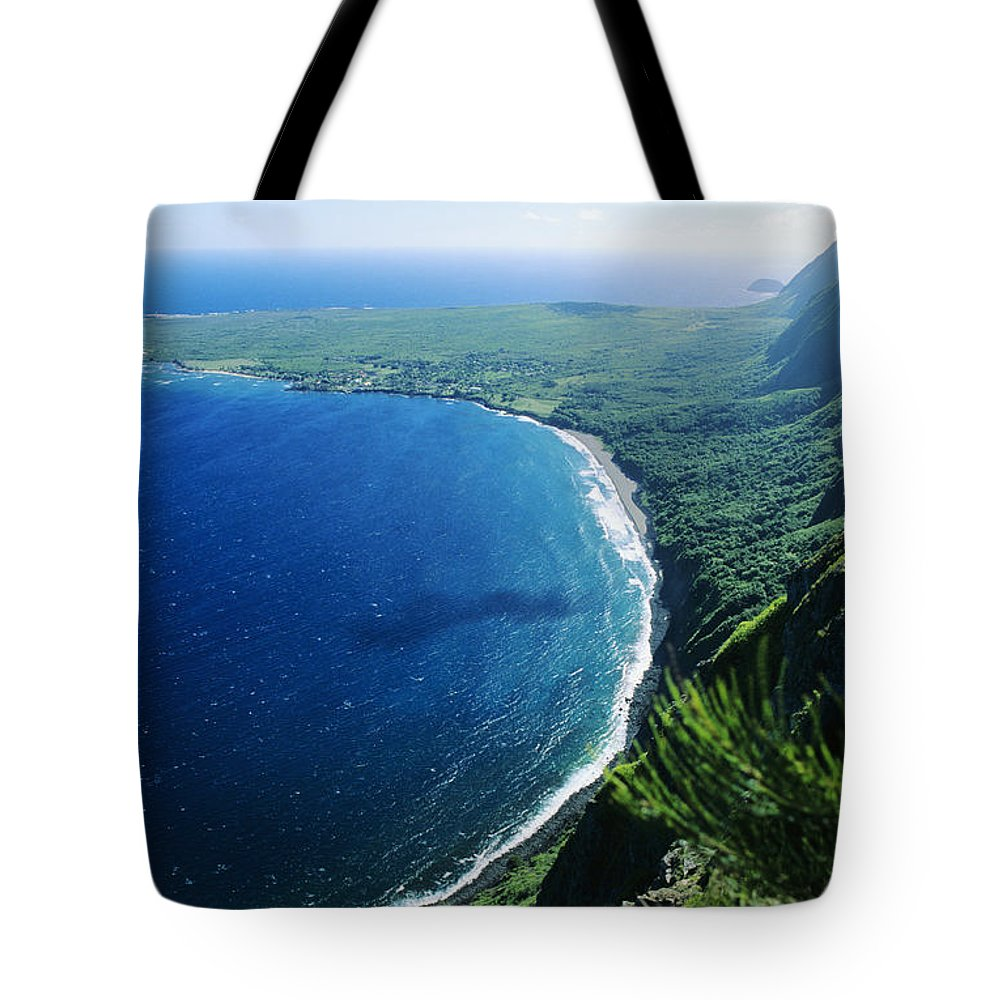 Above Tote Bag featuring the photograph Molokai, View by Ali ONeal - Printscapes