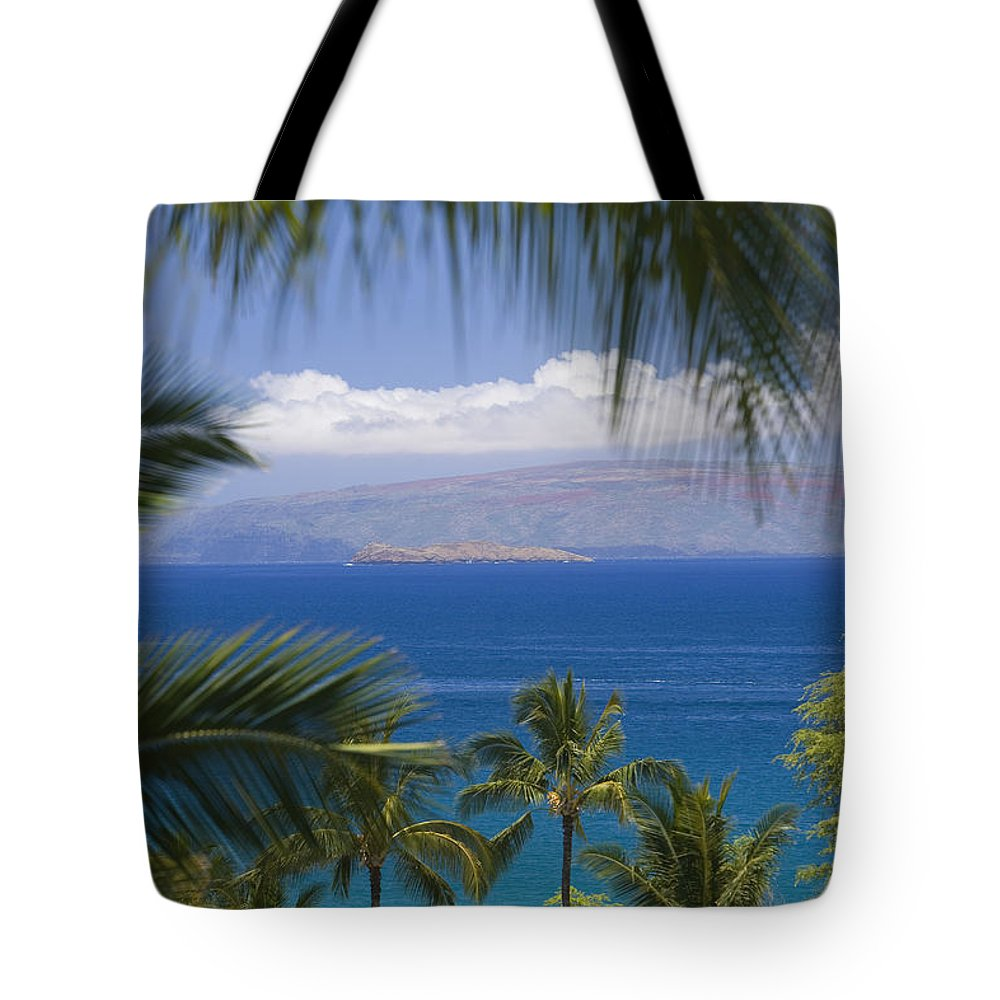 Beautiful Tote Bag featuring the photograph Molokini And Kahoolawe In Distance by Ron Dahlquist - Printscapes
