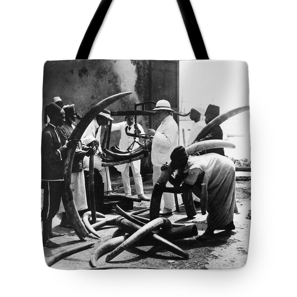 1900 Tote Bag featuring the photograph Mombasa: Ivory Trade by Granger
