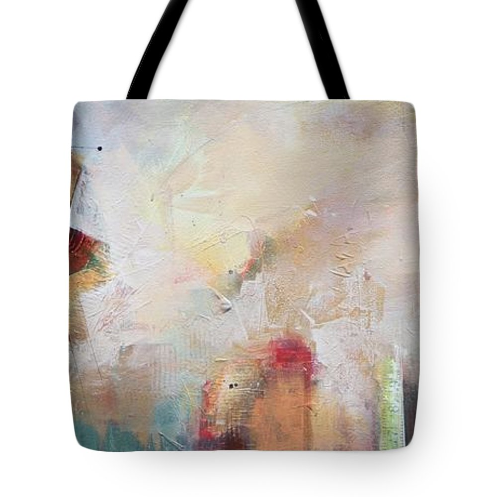 Contemporary Tote Bag featuring the painting Moment By Moment by Karen Hale