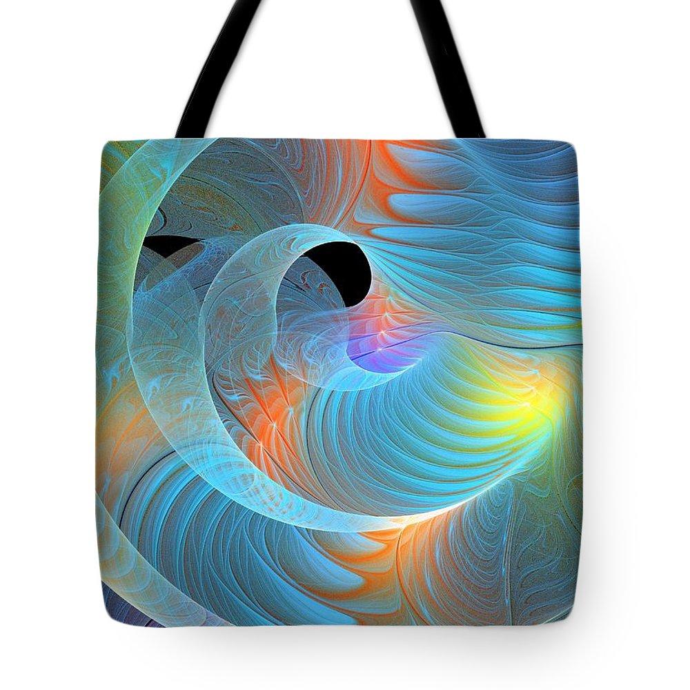 Digital Art Tote Bag featuring the digital art Moment Of Elation by Amanda Moore