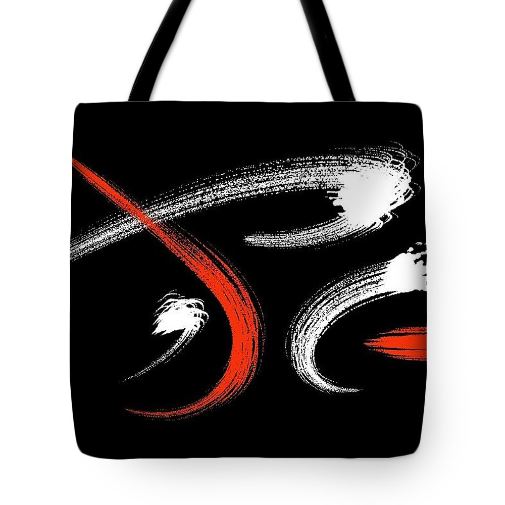 Brush Tote Bag featuring the digital art Momenta by Jason Wosak