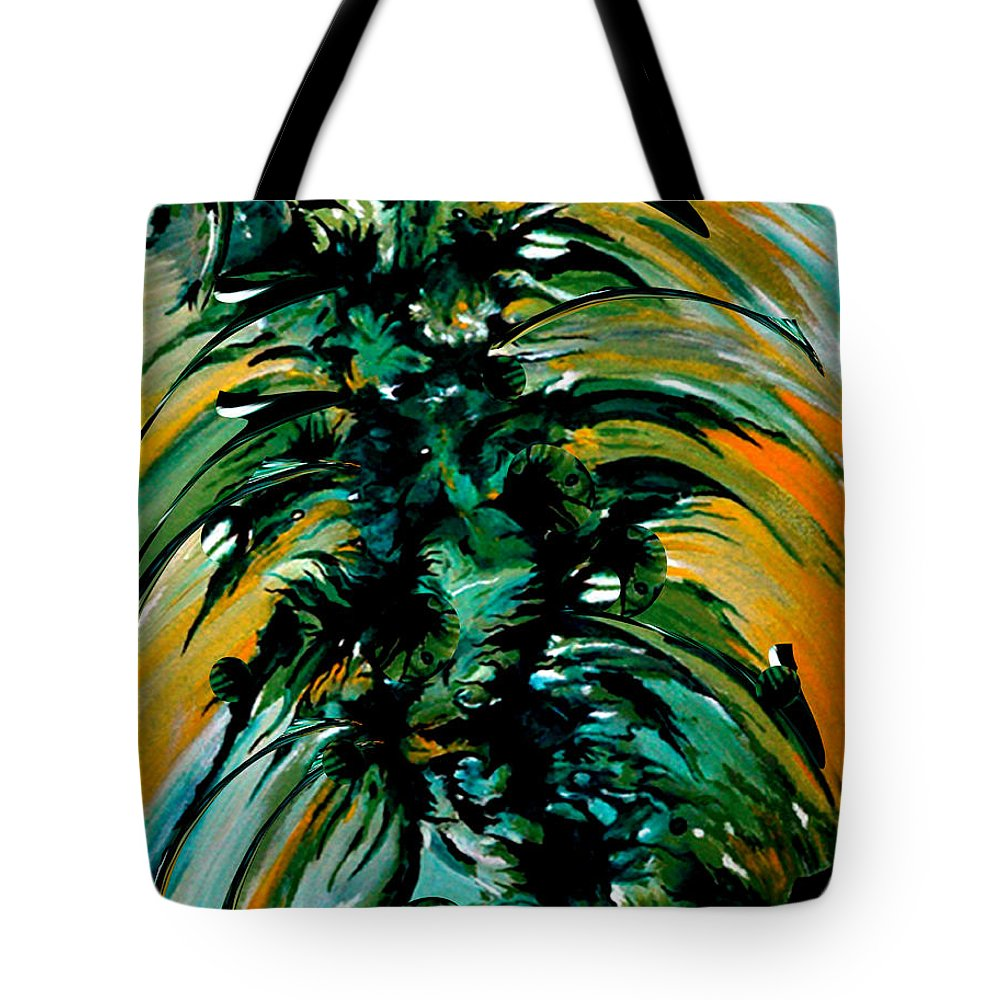 Momentary Season Tote Bag featuring the painting Momentary Season by Carmen Fine Art