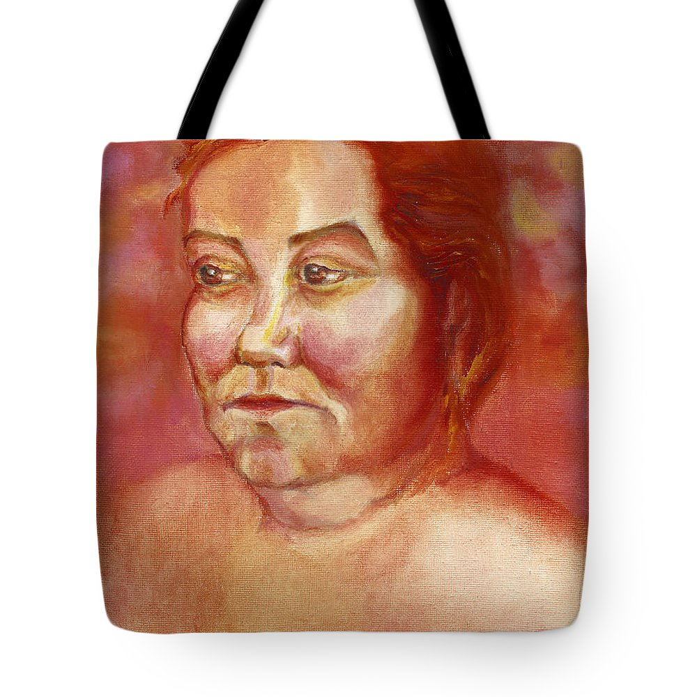 People Tote Bag featuring the painting mommy_April, 25 2002 by Tatiana Chernyavskaya