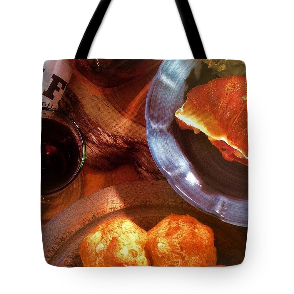 Tote Bag featuring the photograph Mon Petite French Repast by Jacqueline Manos