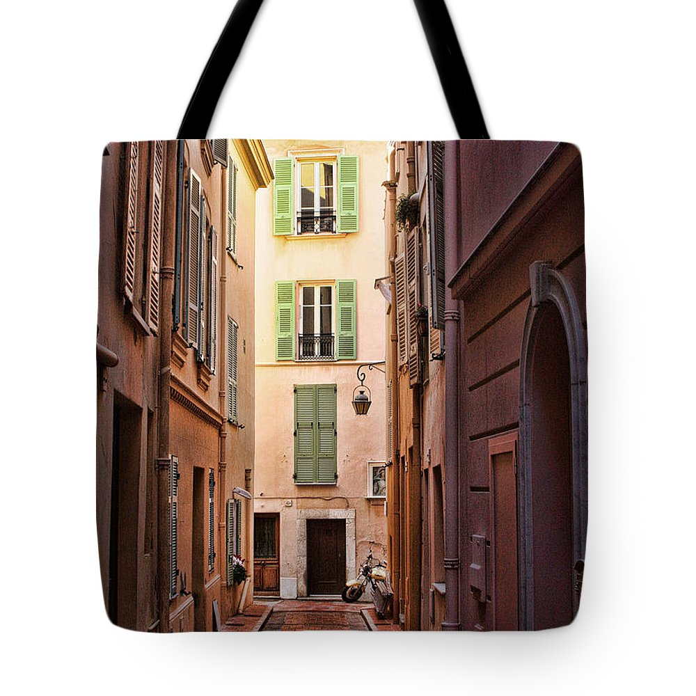 Europe Tote Bag featuring the photograph Monaco Street by Tom Prendergast