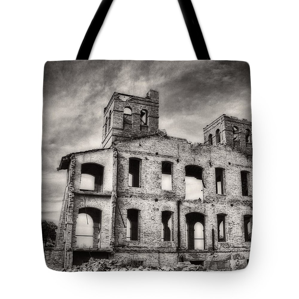 Monsters Tote Bag featuring the photograph Monastery Memories by Sissy Schneiderman