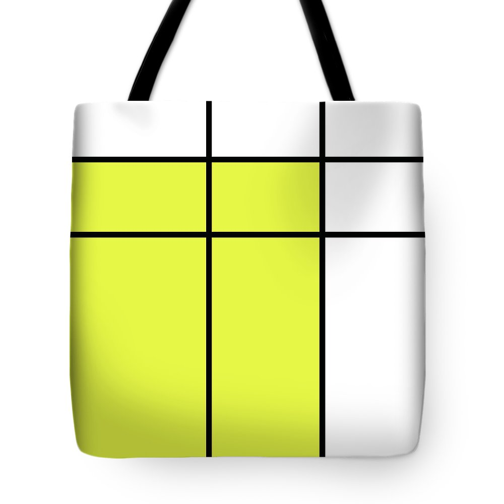 Mondrian Style Minimalist Pattern In Yellow Tote Bag for Sale by ...