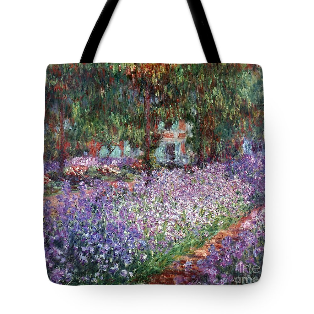 1900 Tote Bag featuring the photograph Monet: Giverny, 1900 by Granger