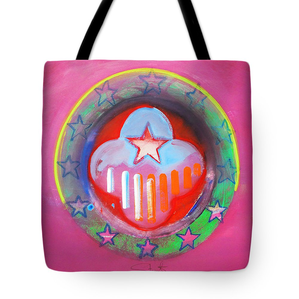 Symbol Tote Bag featuring the painting Monetary Union by Charles Stuart
