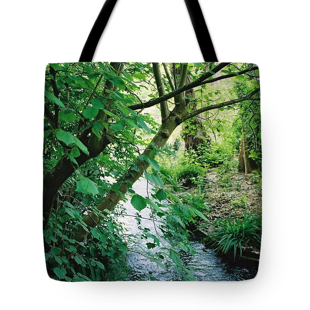 Photography Tote Bag featuring the photograph Monet's Garden Stream by Nadine Rippelmeyer