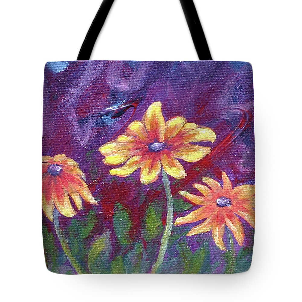 Small Acrylic Painting Tote Bag featuring the painting Monet's Small Composition by Jennifer McDuffie