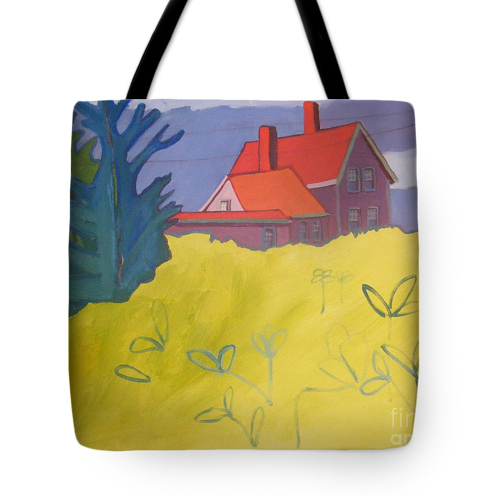 Lighthouse Tote Bag featuring the painting Monhegan Light by Debra Bretton Robinson