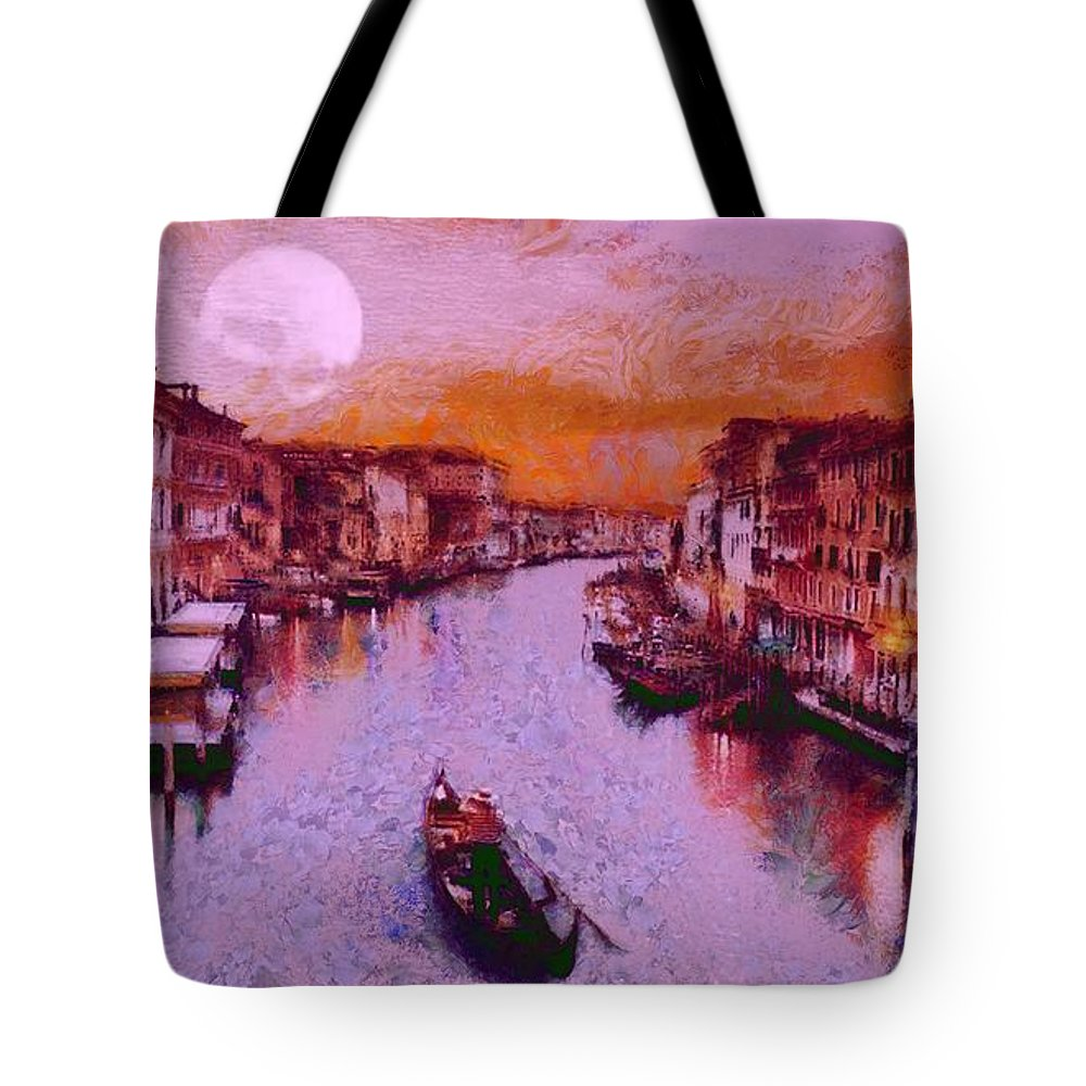 Monkey Painted Italy Again Tote Bag featuring the painting Monkey Painted Italy Again by Catherine Lott