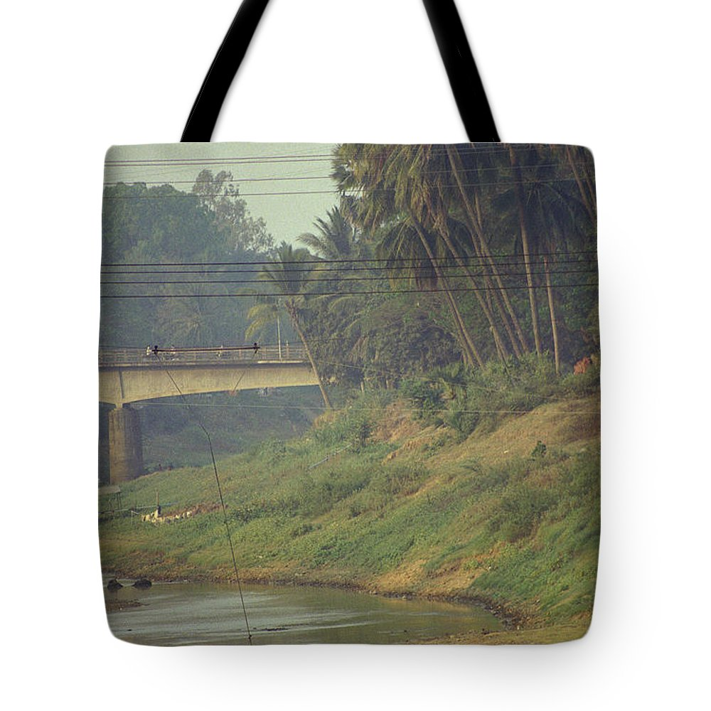 Monks Tote Bag featuring the photograph Monks - Battambang by Patrick Klauss