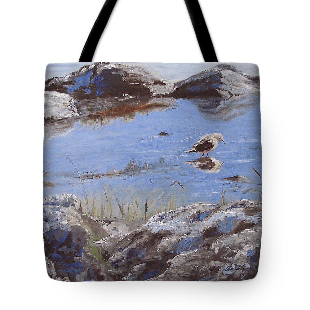 Animal Tote Bag featuring the painting Mono Lake by Barbara Andolsek