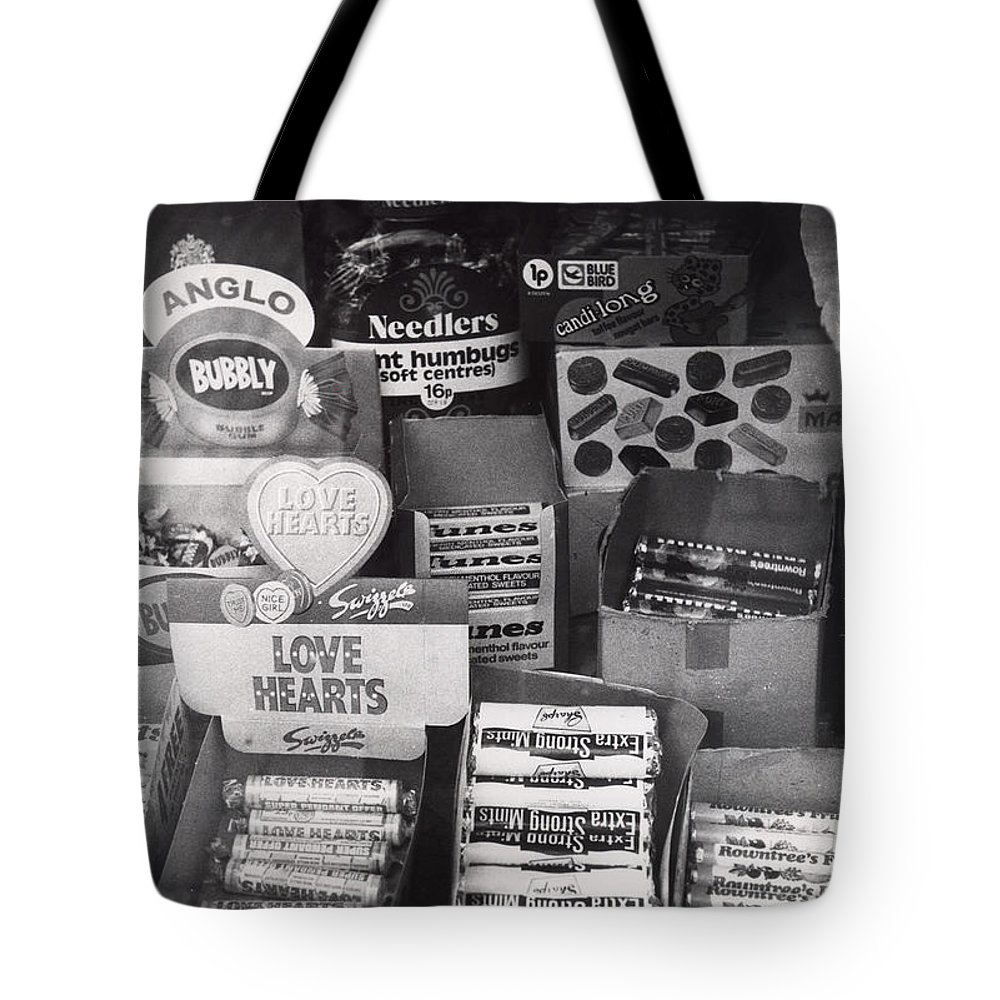 Candy Tote Bag featuring the photograph Monochrome Candy by Charles Stuart