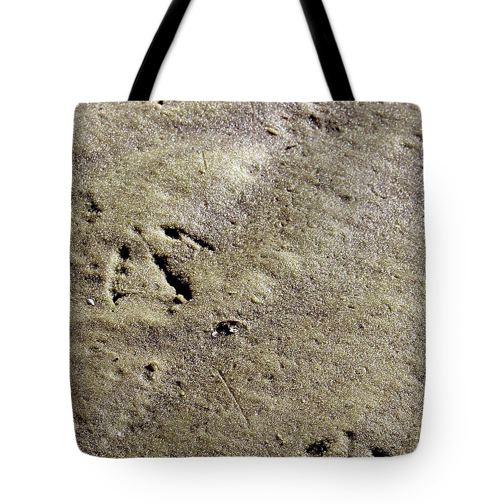 Beach Tote Bag featuring the photograph Monoprint by Peggy Starks