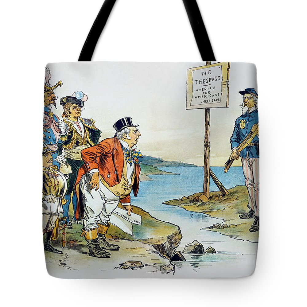 1896 Tote Bag featuring the photograph Monroe Doctrine, 1896 by Granger