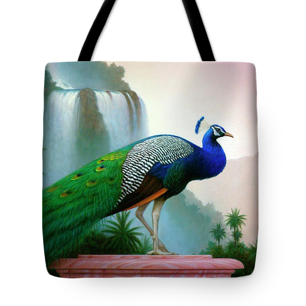 Landscape Tote Bag featuring the painting Monsoon by Brian McCarthy