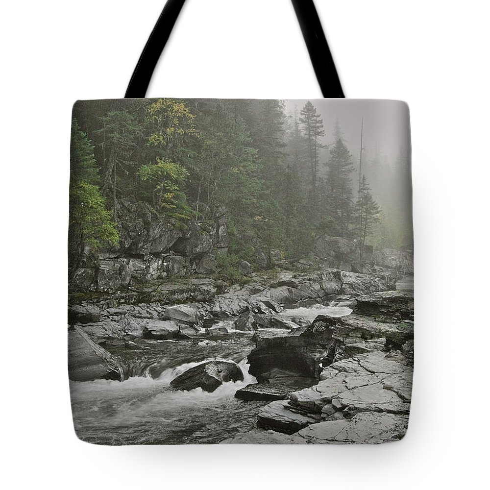 Montana Tote Bag featuring the photograph Montana Fog by Michael Peychich
