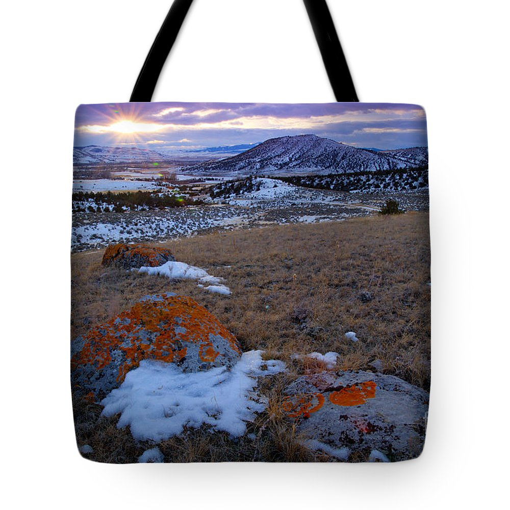 Montana Tote Bag featuring the photograph Montana Sunset by Idaho Scenic Images Linda Lantzy