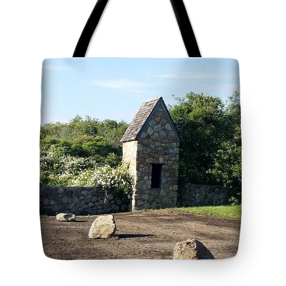 Stones Tote Bag featuring the photograph Montauk Guard House 1 by Rob Hans