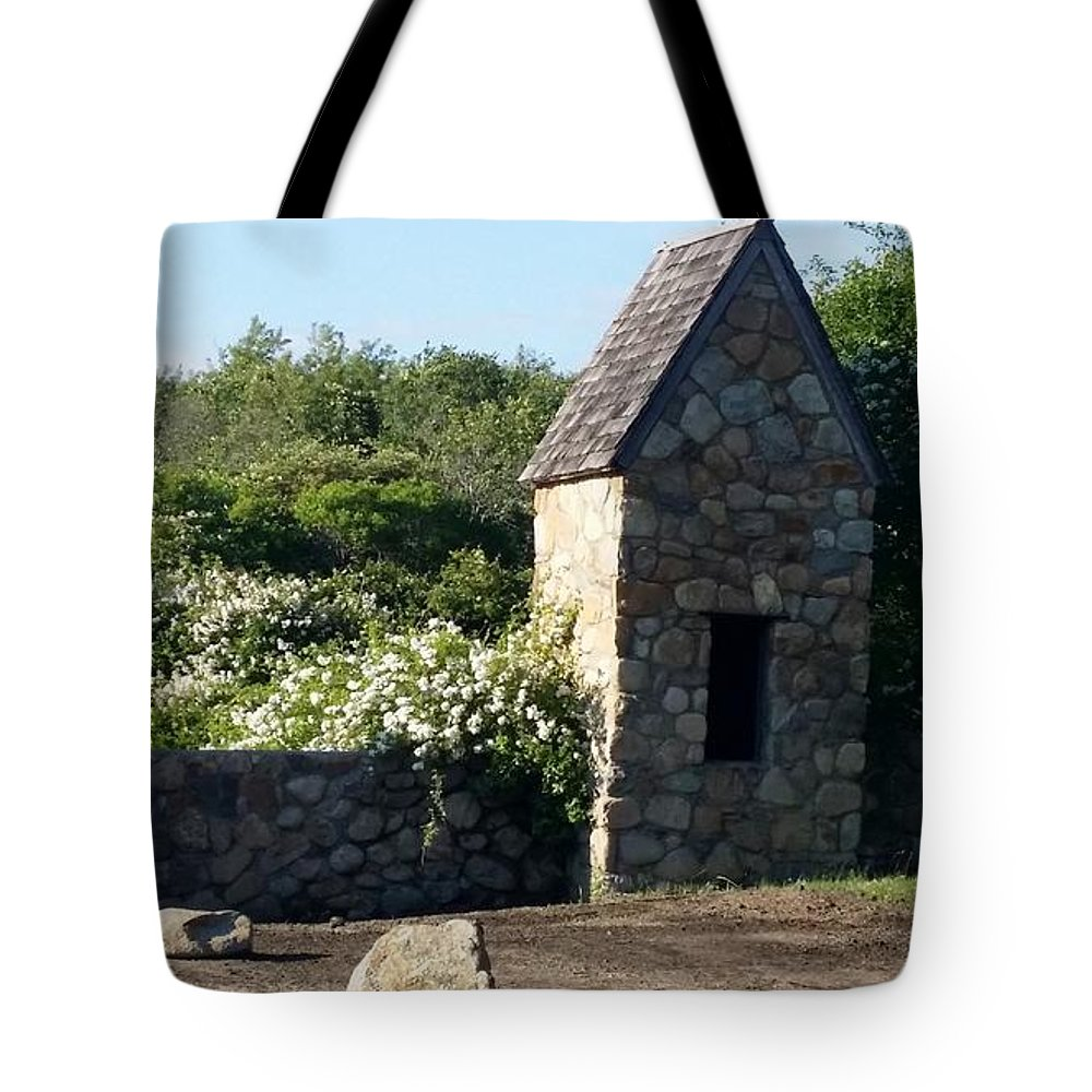 Stones Tote Bag featuring the photograph Montauk Guard House 2 by Rob Hans