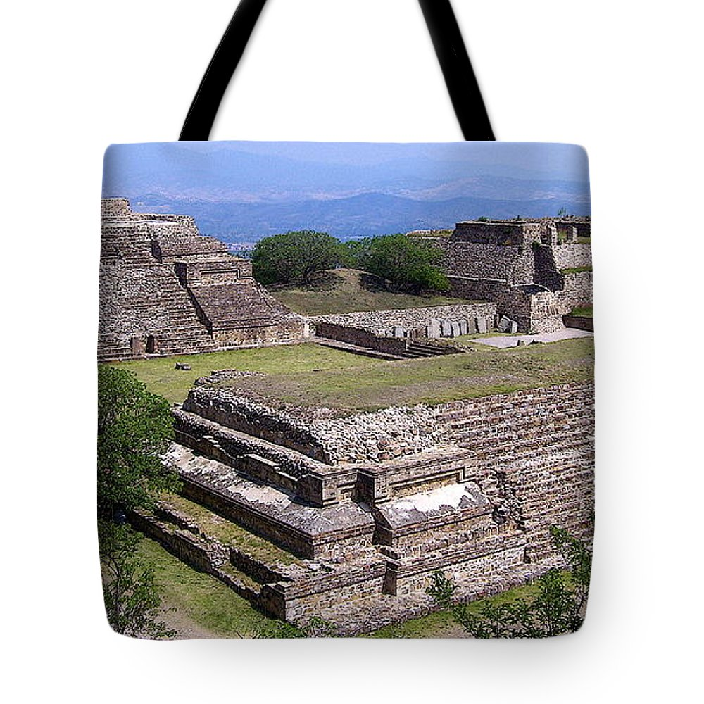 Monte Alban Tote Bag featuring the photograph Monte Alban by Michael Peychich